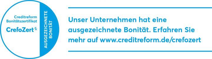 """Rapiro erhält mit Verleihung des Bonitätszertifikats """"CrefoZert"""" der Creditreform eine Auszeichnung für die gute Unternehmensentwicklung"""